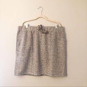 New Loft Plus Gray Soft Knit Jogger Skirt 16W